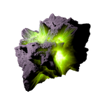 Asteroid Meteor Lime | Transparent Space Stock