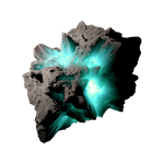 Asteroid Meteor Aqua | Transparent Space Stock