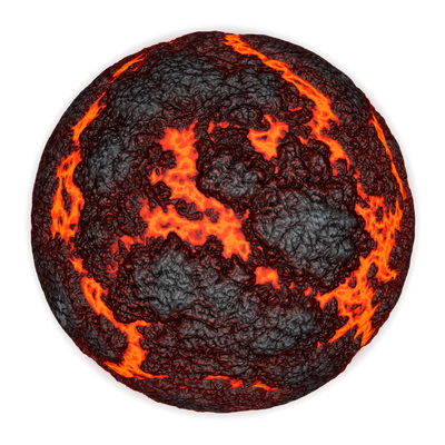 Scorching Hot Planet | Transparent Space Stock