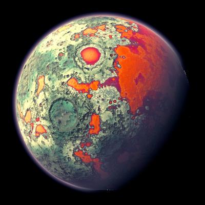 Moon strange Vegetation | Transparent Space Stock