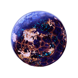 Blue luminous Planet Moon Lava + acid Space Stock