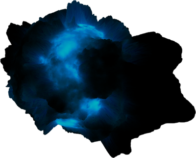 Asteroid Meteor Dark blue glow | Space SciFi Stock by LapisDemon