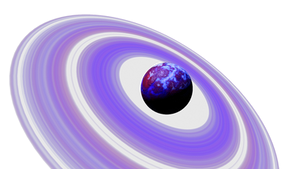 Purple Blue Planet Purple rings Space SciFi Stock