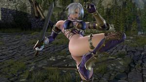 Ivy Valentine knee kick