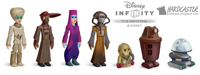 Disney Infinity towns people