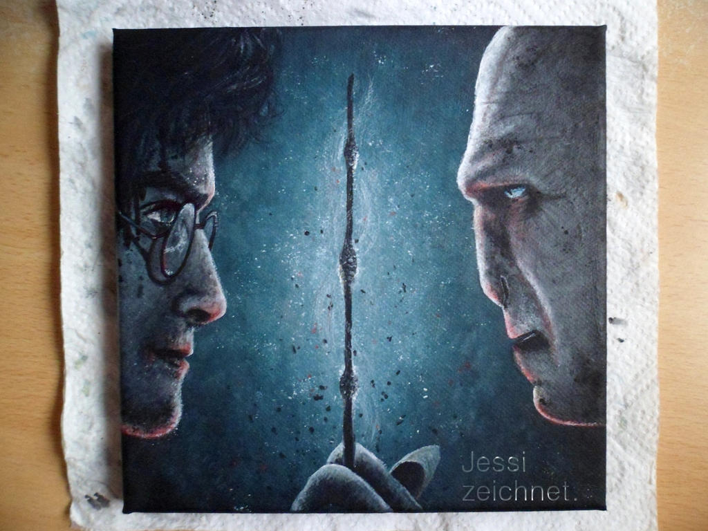 Harry Potter and Lord Voldemort by JessiZeichnet