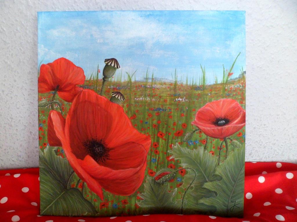 Field Of Poppies by JessiZeichnet