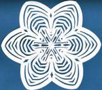 Large Blue Blossom Snowflake