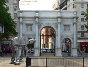 An American AT-AT in London