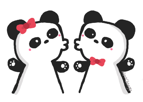 Panda Couple By Idog