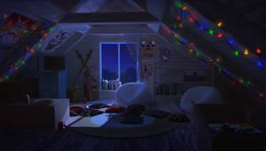 Attic. Night light