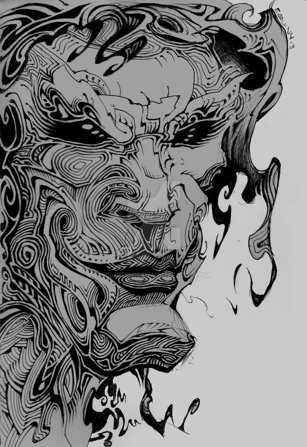 The Joker Line Art : Joker line art by eliquinn on deviantart