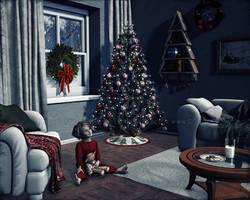Waiting for Santa by dream9studios