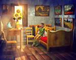 Vincent's Sunflowers by dream9studios