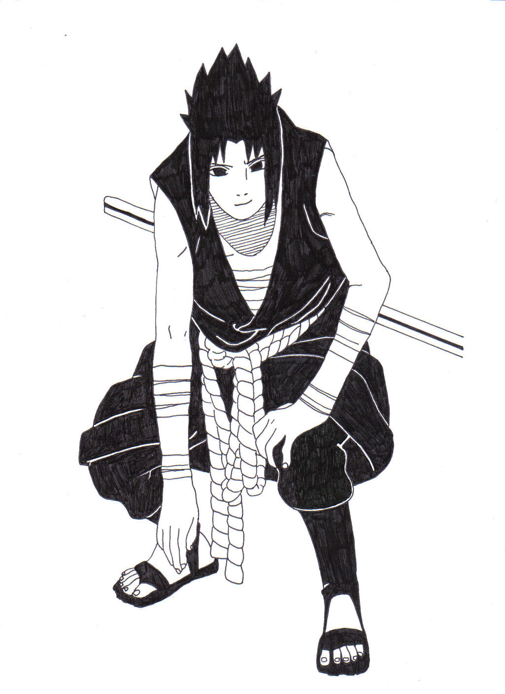 Sasuke Uchiha (vs. Itachi Uchiha) by 1Hutmacher1 on DeviantArt
