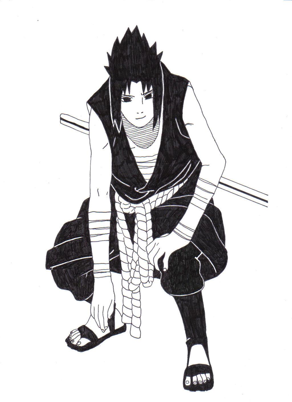 Sasuke Uchiha (vs. Itachi Uchiha) by 1Hutmacher1 on DeviantArt