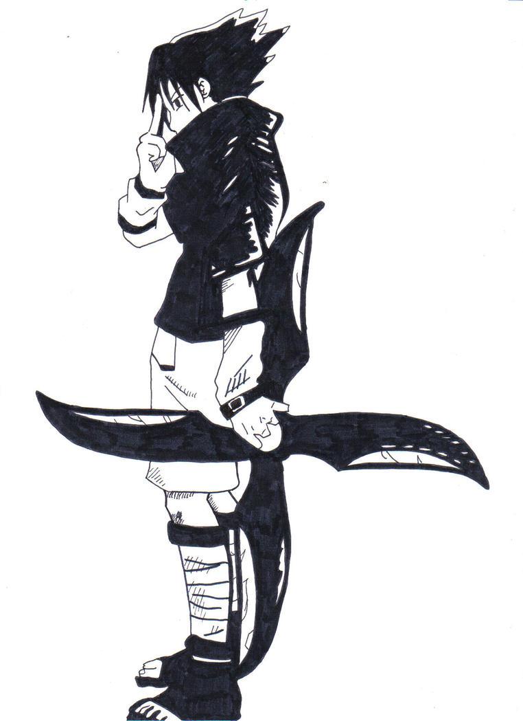 Sasuke uchiha shuriken by 1hutmacher1 on deviantart - Sasuke uchiwa demon ...