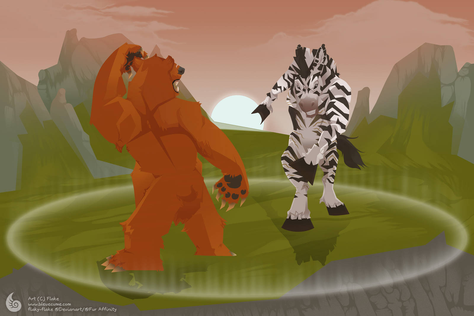 Creature Big Fight by flaky-flake