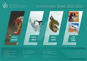 Commissions Sheet 2020-2021