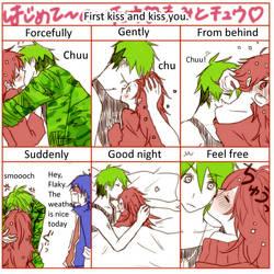 HTF doujinshi 69: Ways to kisses by minglee7294