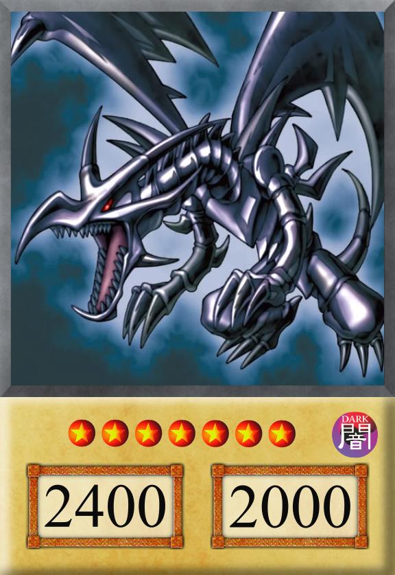 Yu Gi Oh Anime Card Red Eyes Black Dragon By Jtx1213
