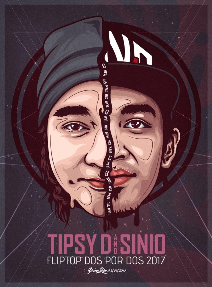 Sinio and Tipsy D (Fliptop Dos Por Dos 2017) by bhingRIFE
