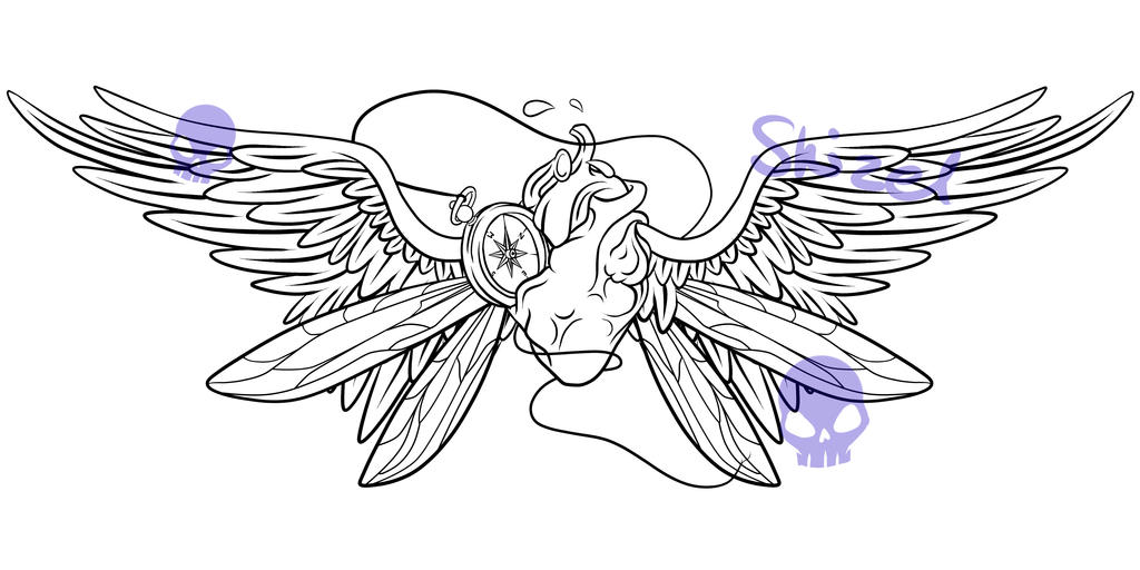 Heart Tattoo Designs With Wings Winged Heart Tattoo Design by