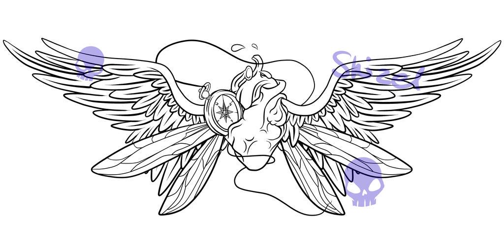 K Heart Tattoo Winged heart tattoo design  by