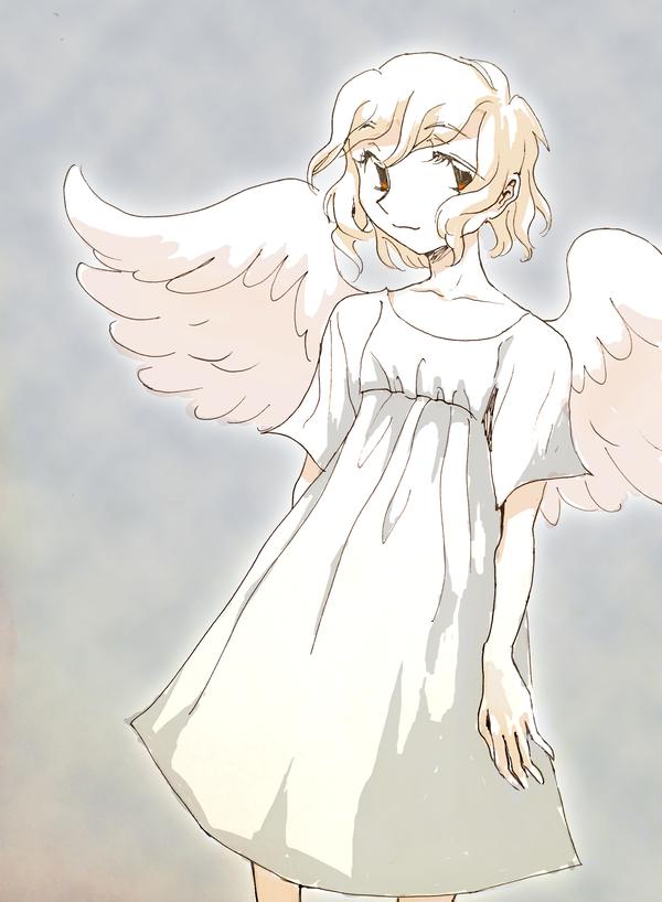 slouchy angel by Clovejar