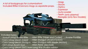 [DL SFM\GMOD] XCOM 2 Weapons V2 (bodygroups)