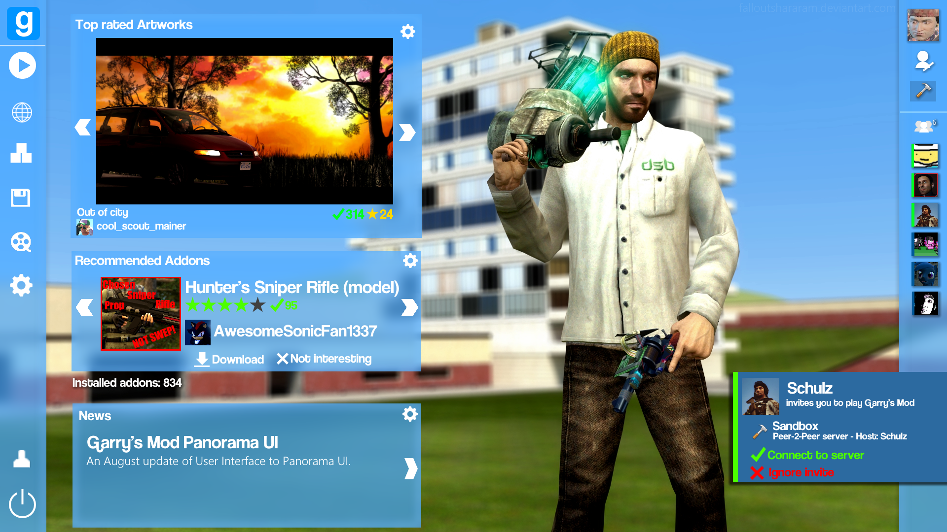 Panorama User Interface (Garry's Mod) by falloutshararam on