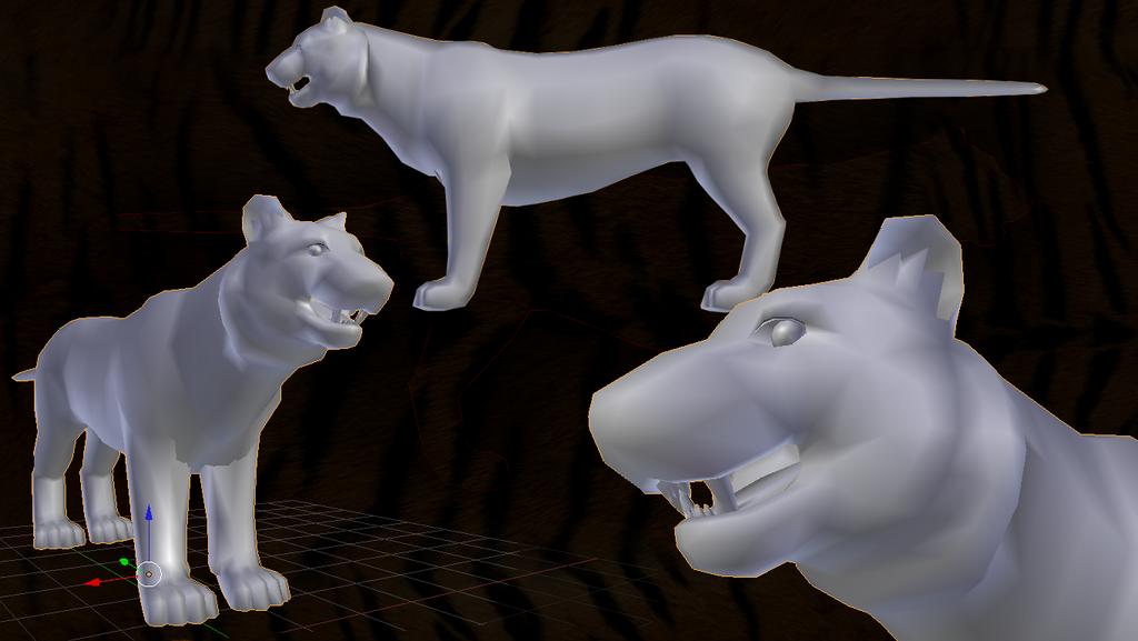 Siberian Tiger Mesh by dragon-master-13