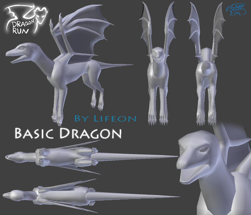 Dragon Run - Basic Dragon Mesh by dragon-master-13