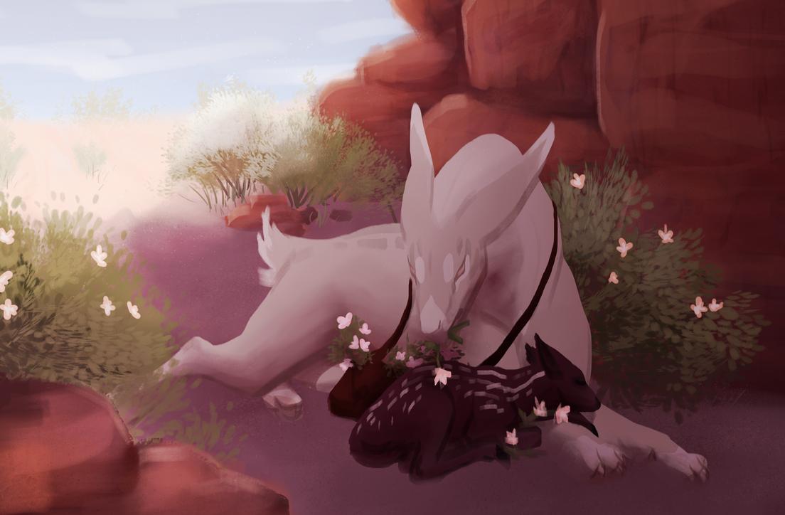 My Little Sleepy Flower by dragon-master-13