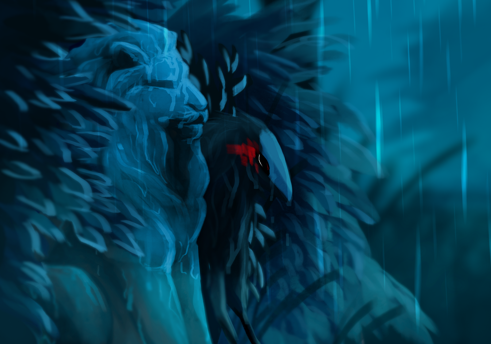 Lions Rain by dragon-master-13