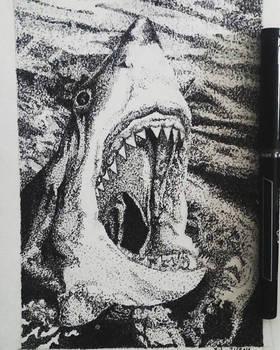 Stippling Shark #2