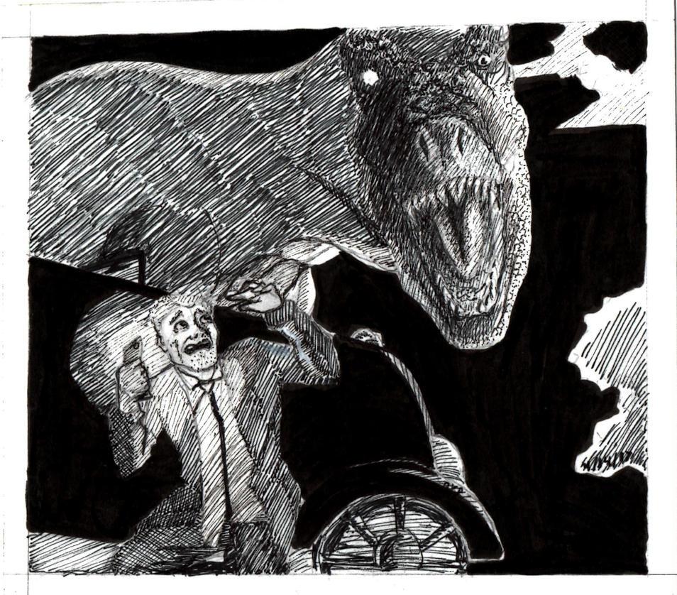 T-Rex Illustration by BenjiroPV