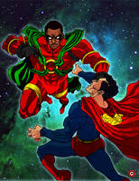 Icon vs Superman by ShaneGreer