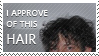 Gaiman Hair Appreciation Stamp by pawni
