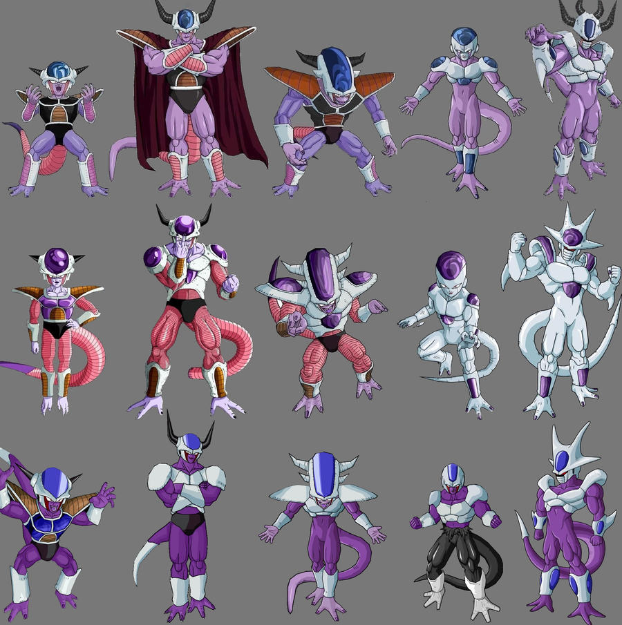 Frieza Cooler King Cold all Forms by Plessress on DeviantArt