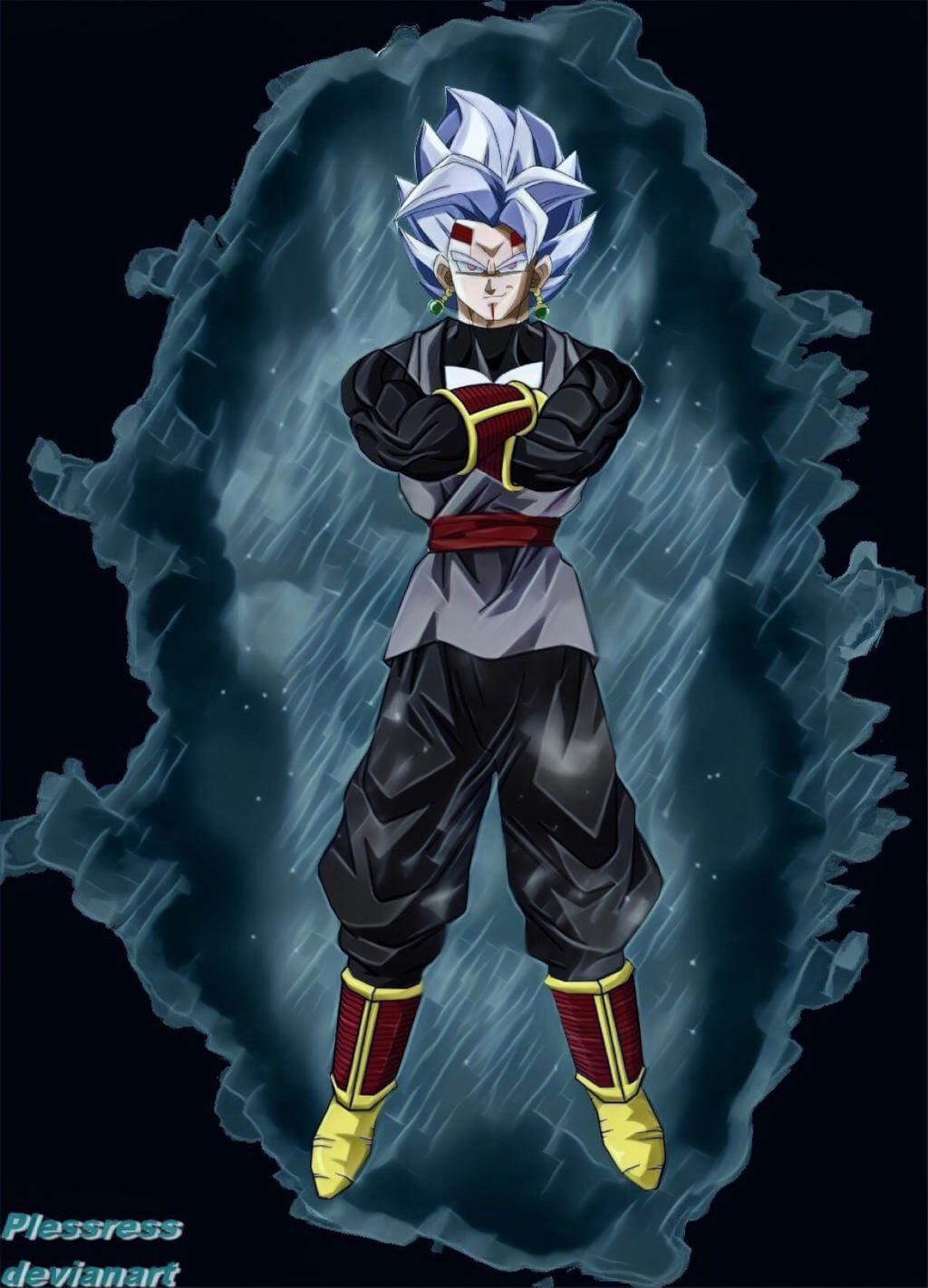 Dragonball Baby vegeta Goku Black Fusion by Plessress on ...