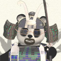 Samurai Bearded Panda Avatar by blueknot