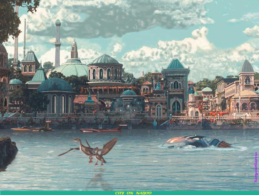City on Naboo by SergentGarcia  Naboo Falls