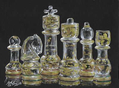 Crystal Chess Pieces by AndyGill1964