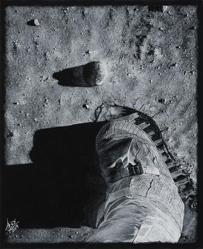 Footprint On The Moon by AndyGill1964