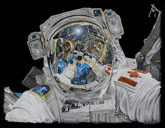 Astronaut Selfie by AndyGill1964