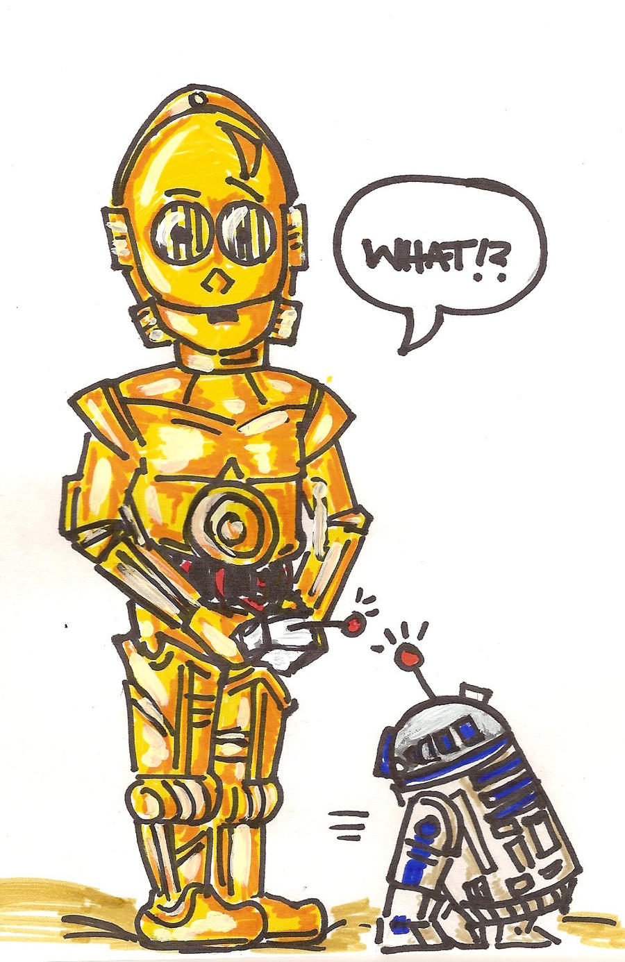 C3P0 and R2 by Badseedshalo on DeviantArt