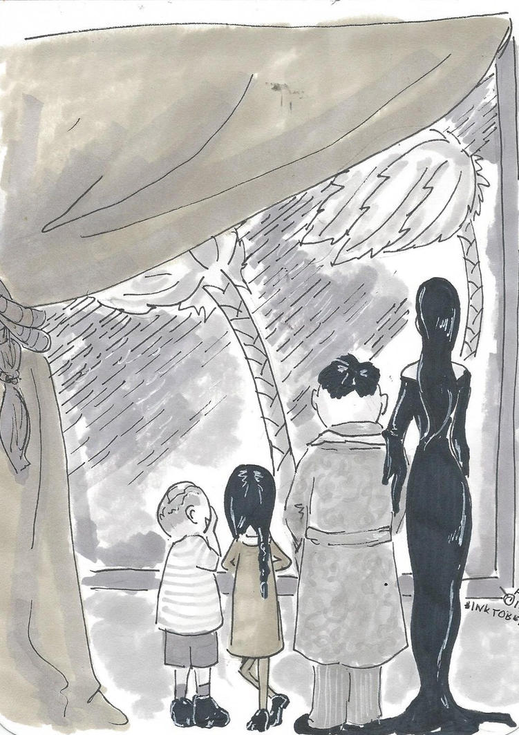 Inktober-Addamsfamilyvacation by Badseedshalo