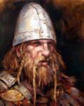 a viking portrait