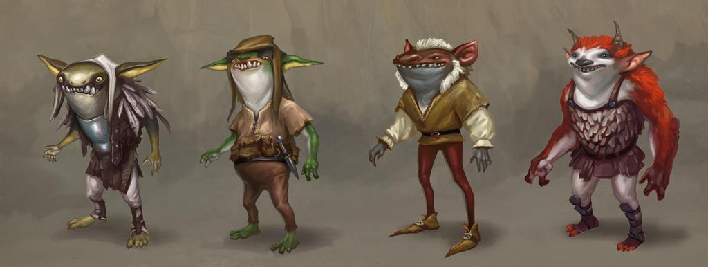 Goblin Concepts by egilthompson